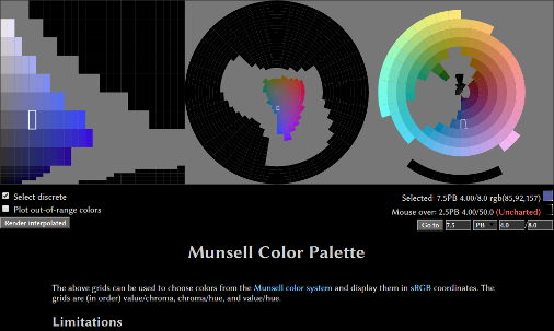 Munsell Color Palette